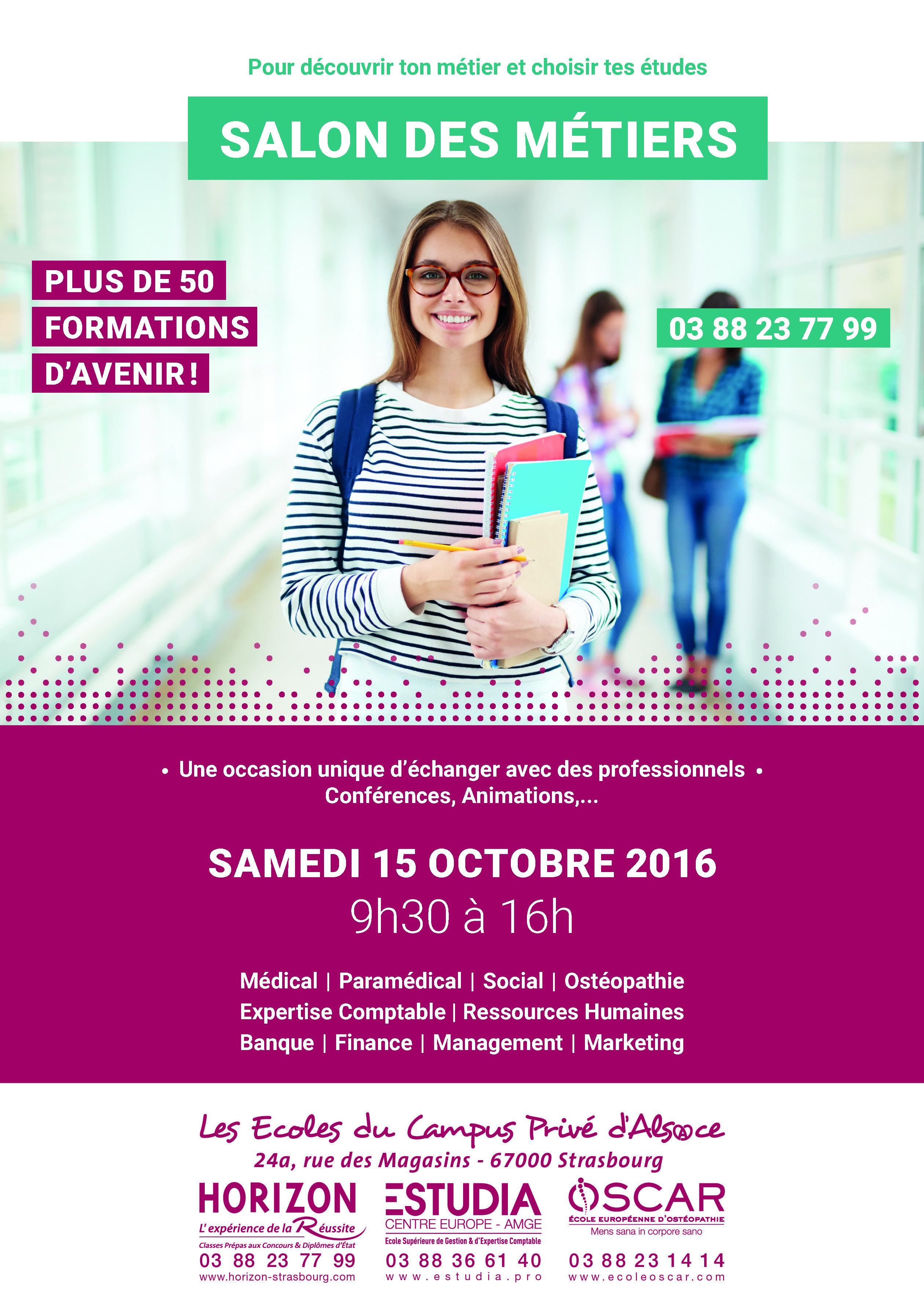 1 re journ e portes ouvertes samedi 15 octobre 2016 for Porte ouverte salon etudiant