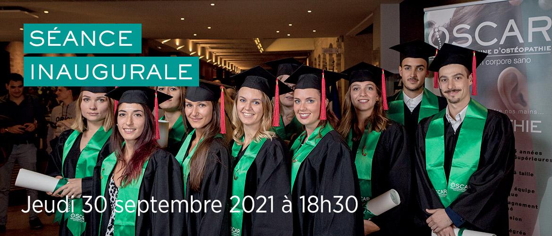 Remise des diplômes et séance inaugurale Septembre 2021